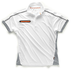 Scruffs Pro Active Zip Polo White S