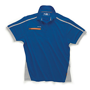Scruffs Pro Active Zip Polo Blue L