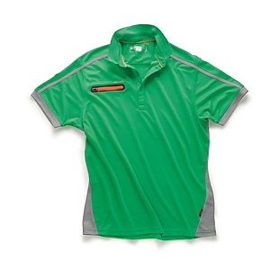 Scruffs Pro Active Zip Polo Green L