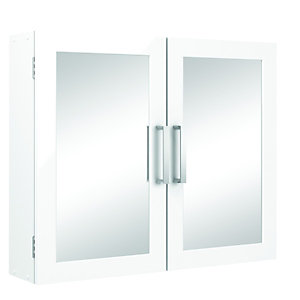 Wickes Bathroom Double Mirror Cabinet White 600mm