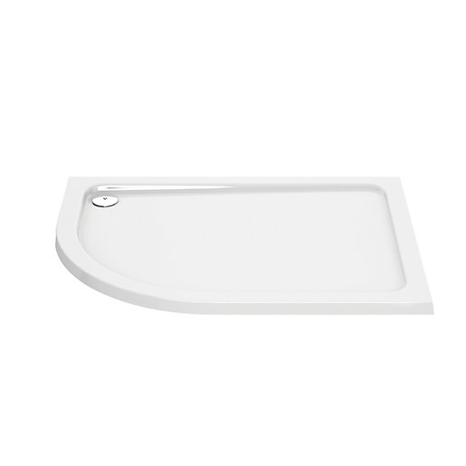 Wickes Offset Quadrant Lh 45mm Cast Stonetray White