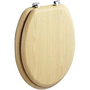 Wickes Oak Effect Toilet Seat
