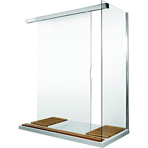 Wickes Walk Through Shower Enclosure with Tray 1700mm