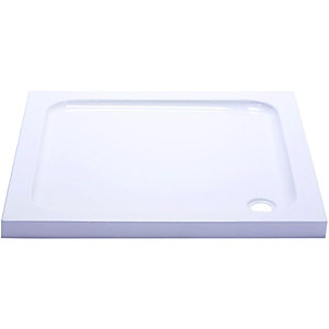 Wickes Slimline High Density Foam Shower Tray White 760x760mm