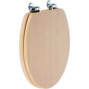 Wickes Soft Close Beech Toilet Seat