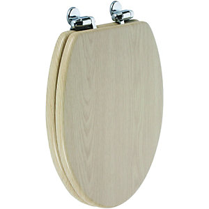 Wickes Soft Close Oak Toilet Seat