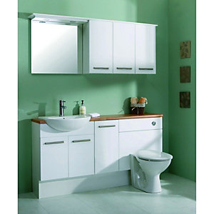 Wickes Seville Single Base Unit White 300mm