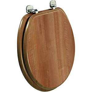 Wickes Walnut Effect Toilet Seat