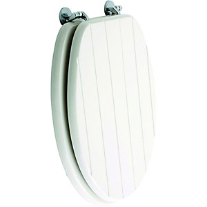 Wickes White Gloss Tongued & Grooved Toilet Seat