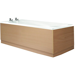 Wickes Bath Front Panel Beech Effect 1700mm