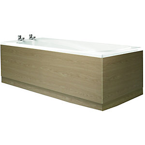 Wickes Bath Front Panel Light Oak Effect 1700mm