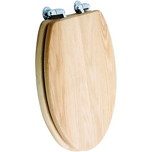 Wickes Soft Close Solid Oak Toilet Seat