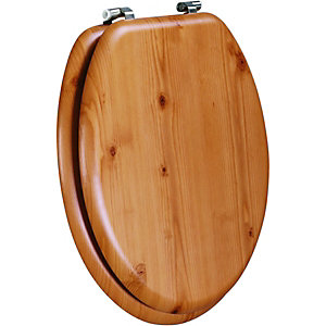 Wickes Solid Antique Pine Toilet Seat
