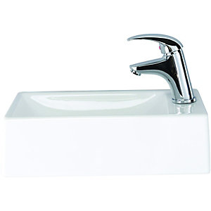 Wickes Sorrento Cloakroom Basin Right Hand 400mm
