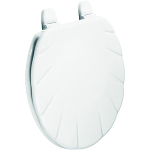 Wickes White Moulded Shell Toilet Seat