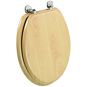 Wickes Beech Effect Toilet Seat