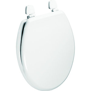 Wickes White Painted Wood Toilet Seat