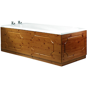 Wickes Bath Front Panel Antique Pine Effect 1700mm