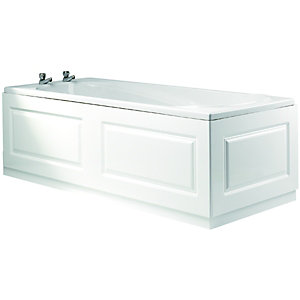 Wickes Bath Front Panel Glacier White 1700mm Wickes Co Uk