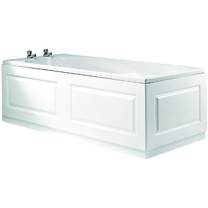 Wickes Bath End Panel Glacier White 700mm