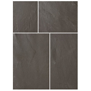 Bradstone Natural Slate Patio Pack Blue Black 10.2m²
