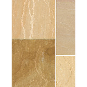 Bradstone Natural Sandstone Patio Pack Sunset Buff 4570 x 3340 x 22mm