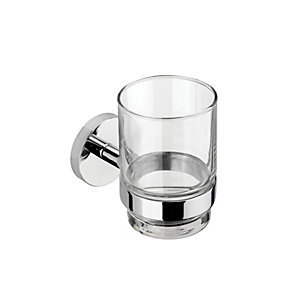 Croydex Pendle Flexi Fix Tumbler & Holder Chrome