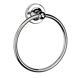 Croydex Worcester Flexi Fix Towel Ring Chrome