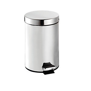 Croydex 3 Litre Stainless Steel Pedal Bin