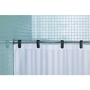 Wickes Fine Line Shower Curtain Rod Chrome