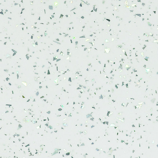 Glitter Kitchen Floor Tiles: Wickes Bathroom Worktop White Sparkle Gloss 600mm