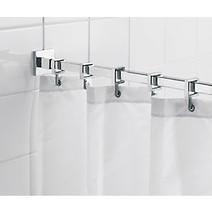 Shower rails and curtains shower accessories wickes co uk
