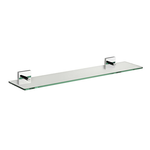 Croydex chester flexi fix glass shelf for Bathroom glass shelves