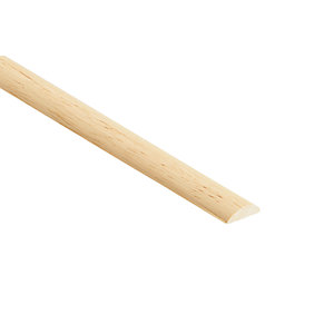 Wickes Light Hardwood Half Round Moulding 22 x 6 x 2400mm