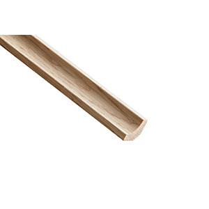 Wickes White Oak Scotia Moulding 18 x 18 x 2400mm