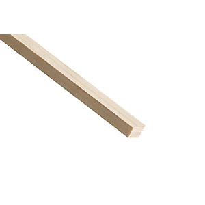 Wickes Pine Wedge Bead Moulding 15 x 12 x 2400mm