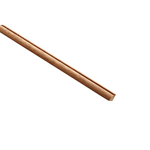 Wickes Dark Hardwood Glass Bead Moulding 9x9x2400mm