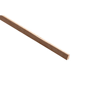 Wickes Dark Hardwood Glass Bead Moulding 15x20x2400mm