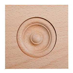 Wickes Light Hardwood Architrave Block Moulding 63 x 63mm