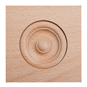 Wickes Light Hardwood Architrave Block Moulding 89 x 89mm