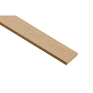 Wickes Light Hardwood Stripwood Moulding (PAR) 6 x 35 x 2400mm