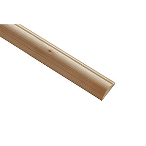 Wickes Pine Double Astragal Moulding 34 x 12 x 2400mm