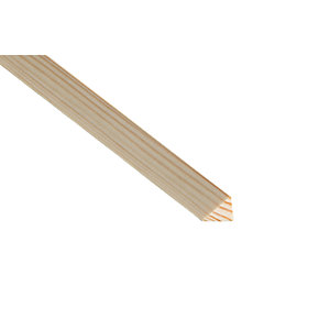 Wickes Pine Triangular Bead Moulding 20 x 20 x 2400mm