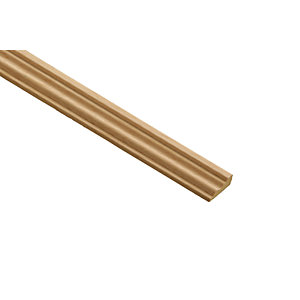Wickes Light Hardwood Barrel Moulding 21 x 8 x 2400mm