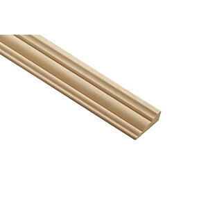 Wickes Light Hardwood Barrel Moulding 34 x 12 x 2400mm