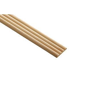 Wickes Pine Reed Moulding 34 x 6 x 2400mm