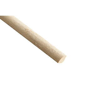 Wickes Light Hardwood Quadrant Moulding 9 x 9 x 2400mm