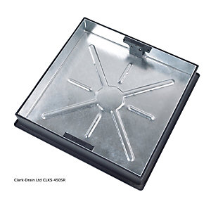 Clark-Drain Square to Round Recessed Manhole Cover & Frame 450mm