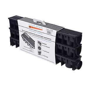 Clark-Drain Plastic Drive Channel Garage Pack