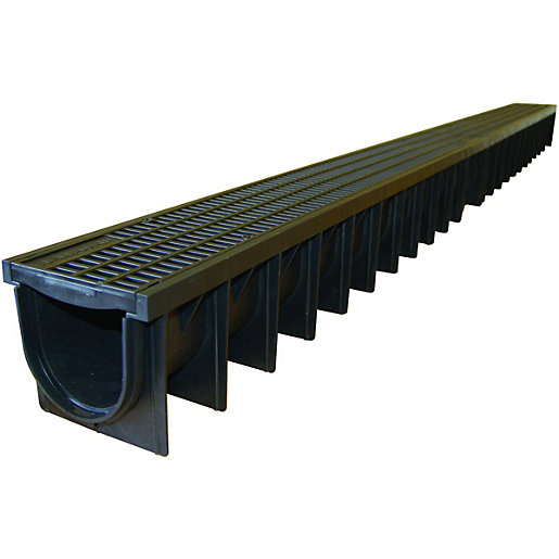 Clark Drain Polypropylene Channel Amp Grate 1000mm Wickes